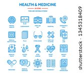 health care  medicine. first... | Shutterstock .eps vector #1345318409