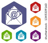 email icons vector colorful...