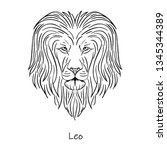 zodiac sign  leo symbol vector    Shutterstock .eps vector #1345344389