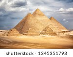 egypt cairo   giza. general... | Shutterstock . vector #1345351793