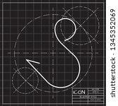 barbed fish hook icon. vector...   Shutterstock .eps vector #1345352069