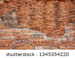 detailed grunge red brick wall... | Shutterstock . vector #1345354220