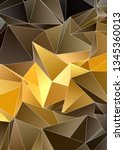 abstract low poly background.... | Shutterstock . vector #1345360013