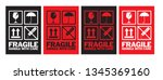 fragile handle with care...   Shutterstock .eps vector #1345369160