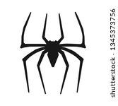 spider sign vector | Shutterstock .eps vector #1345373756