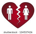 couple getting divorced | Shutterstock . vector #134537426