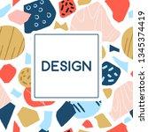 doodle geometric pattern. hand... | Shutterstock .eps vector #1345374419