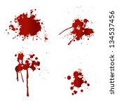 blood splatters | Shutterstock .eps vector #134537456