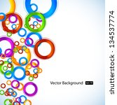 abstract color circle background | Shutterstock .eps vector #134537774