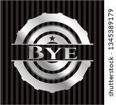 bye silvery badge or emblem | Shutterstock .eps vector #1345389179