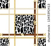 fashion seamless pattern with... | Shutterstock .eps vector #1345392413