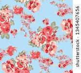 floral bouquet vector pattern... | Shutterstock .eps vector #1345407656