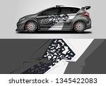 car sporty wrap decal design... | Shutterstock .eps vector #1345422083