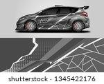 car wrap decal design vector.... | Shutterstock .eps vector #1345422176