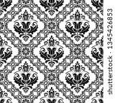 orient vector classic pattern....   Shutterstock .eps vector #1345426853