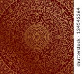 vector oriental red background... | Shutterstock .eps vector #134543264