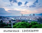 panoramic view of florence old... | Shutterstock . vector #1345436999