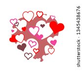 a cloud of hearts  positive  ... | Shutterstock .eps vector #1345438676