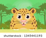 leopard on nature background... | Shutterstock .eps vector #1345441193