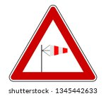 attention sign with wind cone   Shutterstock .eps vector #1345442633
