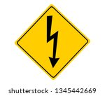 attention sign high voltage   Shutterstock .eps vector #1345442669