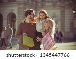 their precious time. family in... | Shutterstock . vector #1345447766