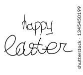 happy easter. he is risen....   Shutterstock .eps vector #1345450199