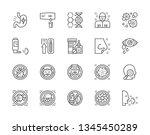 set of allergy and allergens... | Shutterstock .eps vector #1345450289