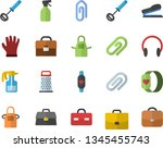 color flat icon set apron flat...   Shutterstock .eps vector #1345455743