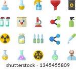 color flat icon set pulverizer...   Shutterstock .eps vector #1345455809