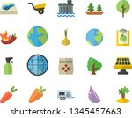 color flat icon set onion flat... | Shutterstock .eps vector #1345457663
