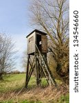Box Stand In A Hedge At A Meadow