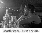 its always better to drink in... | Shutterstock . vector #1345470206