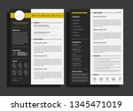 resume or cv template | Shutterstock .eps vector #1345471019