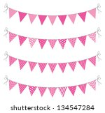 a set of four lines of bunting | Shutterstock .eps vector #134547284