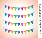 a set of four lines of bunting | Shutterstock .eps vector #134547299