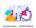 concept save time  money saving.... | Shutterstock .eps vector #1345478063