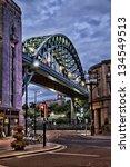 Tyne Bridge In Newcastle.