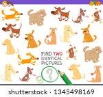 cartoon illustration of finding ... | Shutterstock .eps vector #1345498169