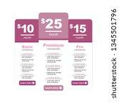 premium pricing and membership... | Shutterstock .eps vector #1345501796