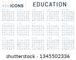 collection of vector line icons ... | Shutterstock .eps vector #1345502336