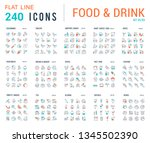 big collection of linear icons. ... | Shutterstock .eps vector #1345502390