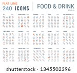 big collection of linear icons. ... | Shutterstock .eps vector #1345502396