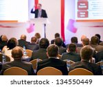 people at the conference hall.... | Shutterstock . vector #134550449