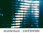 abstract green blur of city... | Shutterstock . vector #1345504580