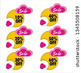 sale discount icons   Shutterstock .eps vector #1345508159