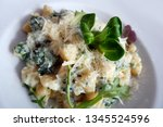 delicious gnocchi spilled with... | Shutterstock . vector #1345524596