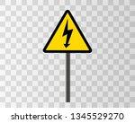 danger sign electricity. hazard ...   Shutterstock .eps vector #1345529270