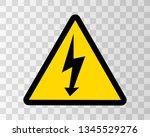 danger sign electricity. hazard ...   Shutterstock .eps vector #1345529276
