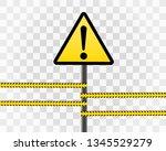 danger sign electricity. hazard ...   Shutterstock .eps vector #1345529279